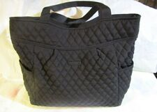 VERA BRADLEY Pleated Tote Bag Large Purse Classic Black NEW TAGS