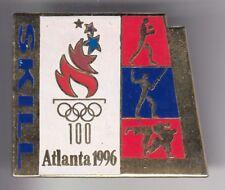 RARE PINS PIN'S .. OLYMPIQUE OLYMPIC ATLANTA 96 SPONSOR  SKILL ESCRIME BIG ~18