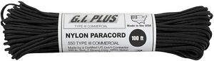 100' Feet 550 lb PARACORD para cord Nylon Type III PARACHUTE ROPE