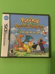 Pokemon Mystery Dungeon: Explorers of Sky (DS, 2009). Case and manuals No Game