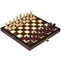 Magnetic Wooden Travel Portable Chess Game Set - 9.25""
