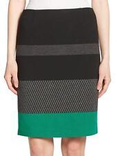 Boss Hugo Boss Black Green Gray Colorblock Manine Pencil Skirt $295 NWT 0