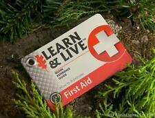 UST LEARN & LIVE FIRST AID REFERENCE SURVIVAL CARDS BUSHCRAFT SURVIVAL EDC