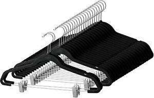 Premium Velvet Skirt Hangers (20 Pack) Non Slip Velvet Pants Hangers with Metal