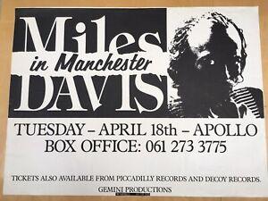 Miles Davis Manchester Apollo concert poster 18 April 1989 - his last UK tour!