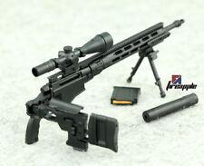 """1/6 Plastic Remington MSR Rifle Gun Weapon Model DIY Toy for 12"""" Action Figure"""