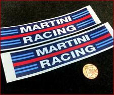 Martini Racing x2 200mm Sticker Car Vinyl Graphic Drift Vinyl Vintage Retro