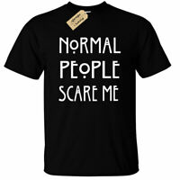 Normal People Scare Me Mens T Shirt funny goth rock punk emo anti social