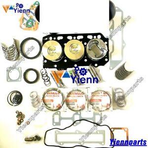 3TN78 3TN78L-RB Overhaul Rebuild Kit For Yanmar Engine Gasket Piston Bearing Set