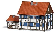 BUSCH 1600 HO Bausatz Wohnhaus mit Anbau #NEU in OVP#