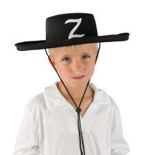 Chapeau feutre bandit masqué enfant Zorro Cowboy espagnol Deguisement légende Z
