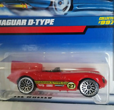 Hot Wheels Jaguar D-type #997 Red 27 Collector Diecast Car