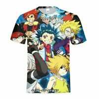 Beyblade Burst Adult Men's T-shirt Casual Short Sleeves Shirt Tops Aoi Kurogami
