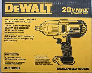 Dewalt DCF889B 20 Volt 1/2 Impact W Detent Pin New FREE 2 DAY SHIPPING