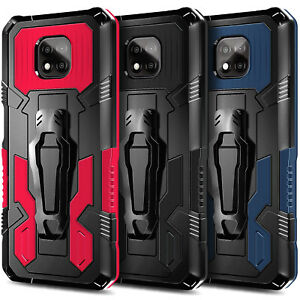 Case For Motorola Moto G Power (2021) Belt Clip Stand Cover with Tempered Glass