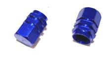 PAIR OF BLUE VALVE STEM CAPS TIRE WHEEL COVER FOR DIRT BIKE ATV PIT QUAD SCOOTER