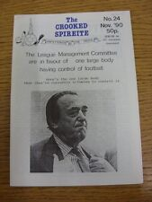 Nov-1990 Chesterfield: The Crooked Spireite  No.24 - Independent Football Magazi