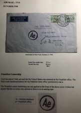 1940 Amsterdam Netherlands Airmail Censored Cover To New York Usa Via Lisbon