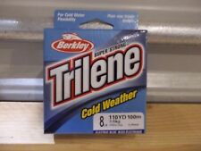 Berkley Trilene Cold Weather ice fishing line 8 lb test 110 yards electric blue