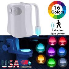 16 Color Lamp Sensor Lights Motion Activated Light Bowl Bathroom Toilet Night