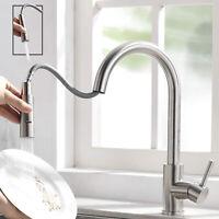 Edelstahl Küchenarmatur 360° Waschbecken Wasserhahn Küche ausziehbar mit Brause