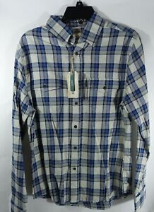 Men Flannel Shirt Small Slim Fit Outdoor Life Western Pockets