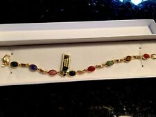 Classic 14Kt Gold-Filled Genuine Scarab Bracelet        QVC248