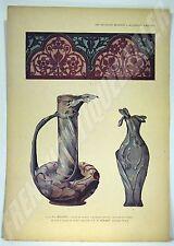 PLANCHE COULEUR ART NOUVEAU 1898 Wolfers Godart ART DECORATIF MODERNE CHAMPIER