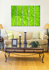 Autumn leaves print on canvas, forest wall art 5 panel Framed leaf canvas prints