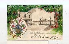 ANTICA CARTOLINA IN RILIEVO DI VENEZIA SPLENDIDA 1902