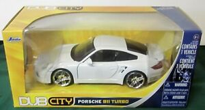 JADA DUB CITY PORSCHE 911 TURBO 1:24 WHITE  New in Un-Opened Box