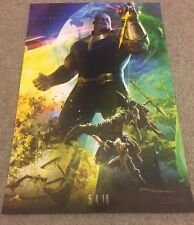 SDCC 2017 AVENGERS Poster MARVEL Infinity Wars THANOS Comic Con Slight Damage