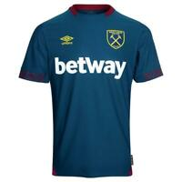 West Ham United Away Shirt Umbro Mens Blue Football Jersey Top 2018 19 78751U