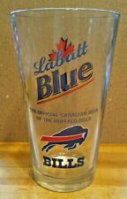 Labatt Blue Official Canadian Beer of the Buffalo Bills Pint Glass NFL