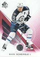 2017-18 SP Authentic Hockey Limited Red #6 Mark Scheifele Winnipeg Jets