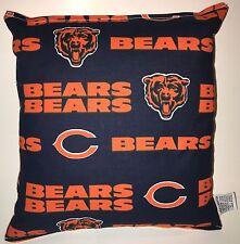 Bears Pillow NFL Pillow Chicago Bears Pillow HANDMADE USA