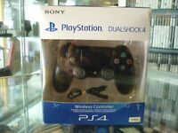 GENUINE SONY PLAYSTATION 4 WIRELESS CONTROLLER - JET BLACK IN BOX / AU STOCK !!