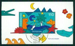 GERMANY M/S S/S 1998 ANIMALS DINOSAURS FISH WHALE CROCODILE STARFISH m1732