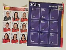 WOMEN'S WORLD 2019 MUNDIAL 19 - UPDATE 9 STICKERS + ALBUM PAGE SPAIN - PANINI