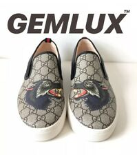 GUCCI Dublin Wolf GG Supreme Skate Shoes Size 43 UK9