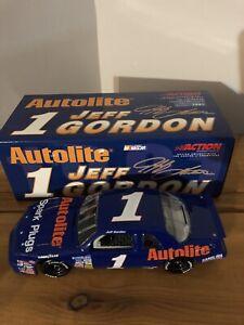 1989 Raced In 1991 Jeff Gordon #1 Autolite Spark RCCA Action 1:24 Diecast Bank