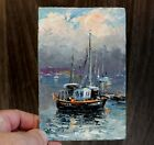 Boat on the waves from Ilmira Zhuravlev Oil painting hardboard Impression