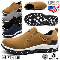 Men Casual Shoes Slip On Outdoor Sneakers Breathable Hiking Climbing Sport Shoes