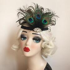 Magideal Vintage Feather Headband Wedding Headpiece 1920s Flapper Headdress
