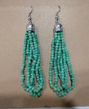 Sage Green Long Dangle Earrings