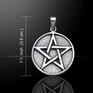 Pentagram Pentacle .925 Sterling Silver Pendant by Peter Stone Jewelry Fine Star