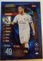 2020 Match Attax Extra Soccer Card - Eden Hazard 100 Club CLU9 Real Madrid