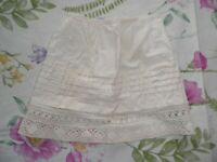 Antique German Doll Petticoat Half Slip - Pintucking and Lace