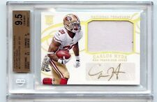 2014 National Treasures Carlos Hyde Auto GOLD Patch RC SP /10 BGS 9.5 49ers!