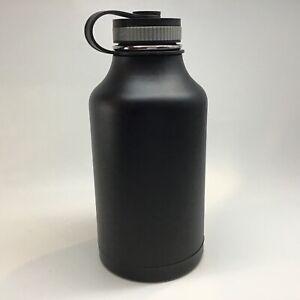 Black Hydro Flask Water Bottle 64oz Vacuum sealed 18/8 Stainless growler beer
